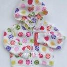 NWT Gymboree Candy Shoppe Print Fleece Hoodie 4 4T New