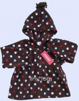 NWT Gymboree Winter Snowflake Dot Fleece Hoodie 4T 4
