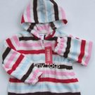 NWT Gymboree Winter Snowflake Stripe Fleece Hoodie 4T 4