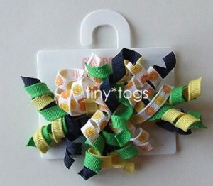 NWT Gymboree Daisy Days Hair Curly Clips New 2T 3T 4T