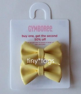 NWT Gymboree Daisy Days Patent Yellow Hair Bows Clips 5