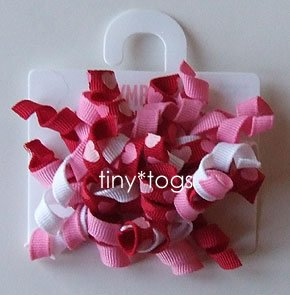 NWT Gymboree Full of Heart Valentines Hair Curly Clips