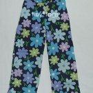 Gymboree Spring Showers Navy Flower Capris Pants 5 Lg
