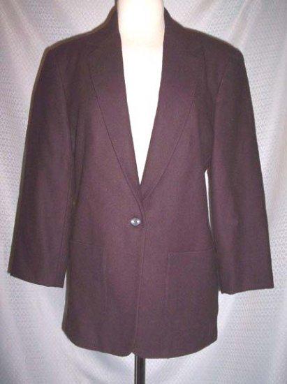 J Crew Dark Brown Wool Blend Lined Jacket Blazer Size 4