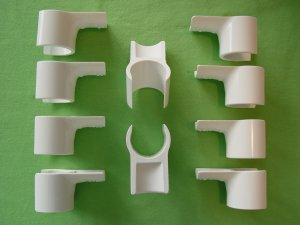 """Jump Cups for Dog Agility - 10 Jump cups fits 1"""" PVC (ID)"""