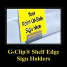 G-CLIP Shelf Edge Price Channel Sign Holders - 100 clips