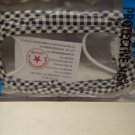 Protective Clear Mouth Printed Mask ( Black & White Checker Pattern )