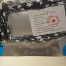 Protective Clear Mouth Printed Mask ( Navy Blue & White Star Pattern )