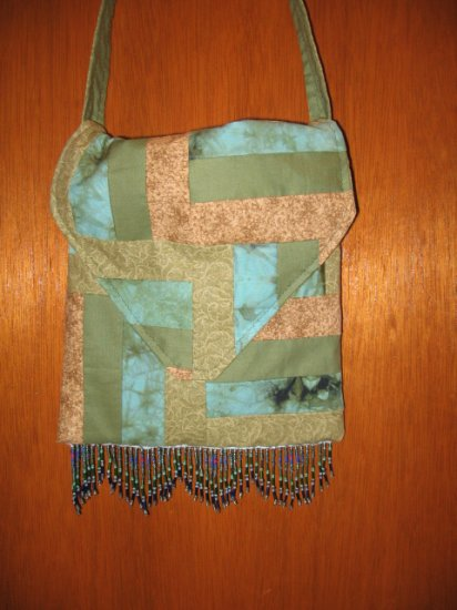 PATCHWORK Beaded HANDMADE Hippie BOHO Purse SLING BAG