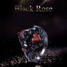 HAUNTED RING BLACK ROSE SKULL MALE FEMALE VAMPIRE SPIRIT METAPHISYCAL PSYCHIC PARANORMAL