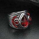 RING RED ZIRCON PROTECTION REMOVE BLACK MAGIC EVIL EYE VIRUS SPELL DJINN JINN