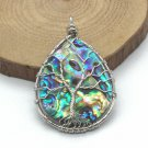 PENDANT Tree of Life ABALONE TOTAL PROTECTION REMOVE EVIL BLACK MAGIC SPELL CAST