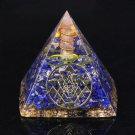 PYRAMID LAPIS LAZULI ORGONE ENERGY CHAKRA HEALING SPIRITUAL RADIONICS PROTECTION
