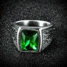 RING GREEN ZIRCON PROTECTION REMOVE BLACK MAGIC EVIL EYE SPELL CAST DJINN JINN