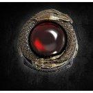RING RED CRYSTAL DRAGON PROTECTION REMOVE BLACK MAGIC EVIL EYE SPIRIT SPELL CAST