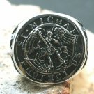 RING Cross Saint Michael TOTAL PROTECTION BLACK MAGIC SPELL CAST DEMON SPIRIT