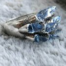 HAUNTED RING BLUE CRYSTAL ILMU KHODAM ANGELIC ANGEL DJINN GENIE SPIRIT METAPHISYCAL