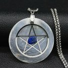 PENDANT SHELL PENTAGRAM TOTAL PROTECTION BLACK MAGIC VIRUS SPELL CAST DEMON JINN