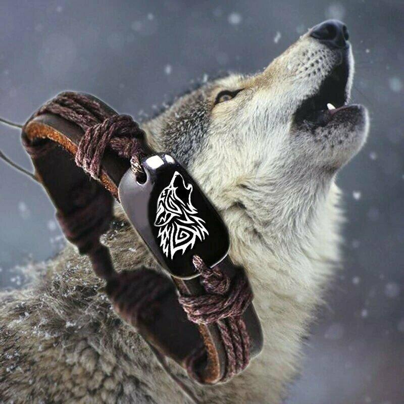 BRACELET WOLF PROTECTION BLACK MAGIC EVIL EYE DEMON SPELL CAST BAD SPIRIT