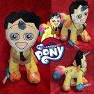 MY LEATHER PONY - ABoMiNaTioN #7 (Leatherface / My Little Pony hybrid plush (ONE OF A KIND ARTWORK!)