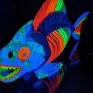 Rainbow Fish - Blacklight Skeleton, hand painted neon