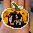 "Trick or Treat STICKER 3""x 3"" Fun with Halloween Pumpkins, waterproof, glossy"