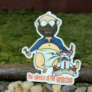 "Silence Of The Lambchop STICKER Horror 3""x 2.5"" Baby Hannibal The Cannibal, waterproof, glossy"