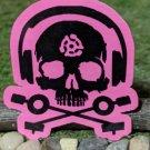 D.J. Skeleton STICKER PINK - waterproof & glossy