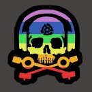 D.J. Skeleton logo STICKER (Rainbow Version) - waterproof & glossy