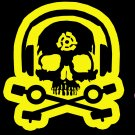 D.J. Skeleton logo STICKER (Yellow Version) - waterproof & glossy