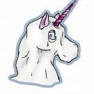 "Ghost Halloweenicorn STICKER - 3.5""x 2"" Unicorns Love Halloween! waterproof"