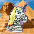 "The Mummy Halloweenicorn STICKER - 3.5""x 2"" Unicorns Love Halloween!"