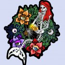 "Mermaid Skeleton Wreath STICKER 2.5 x 2"" halloween waterproof"
