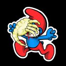 "ABoMinaTioN #2 Smurfhugger STICKER 3"" Die Cut, Waterproof, Glossy"
