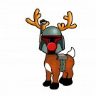 "ABoMinaTioN #6: Boba the Fett Nosed Reindeer STICKER 3"" Die Cut,   Glossy"