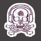 D.J. Skeleton STICKER - Glitch version -  & glossy