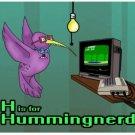 "H is for Hummingnerd STICKER 3""x 3"" Glossy, waterproof"