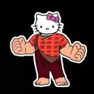 "ABoMinaTioN #5 Wreck-It Kitty STICKER 3"" Die Cut,   Glossy"