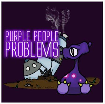 "Purple People Problems STICKER 3""   Glossy, Square"