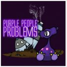 "Purple People Problems STICKER 3""   Glossy, Square"