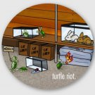 "Turtle Riot STICKER 3"" Waterproof, Glossy, Circle"