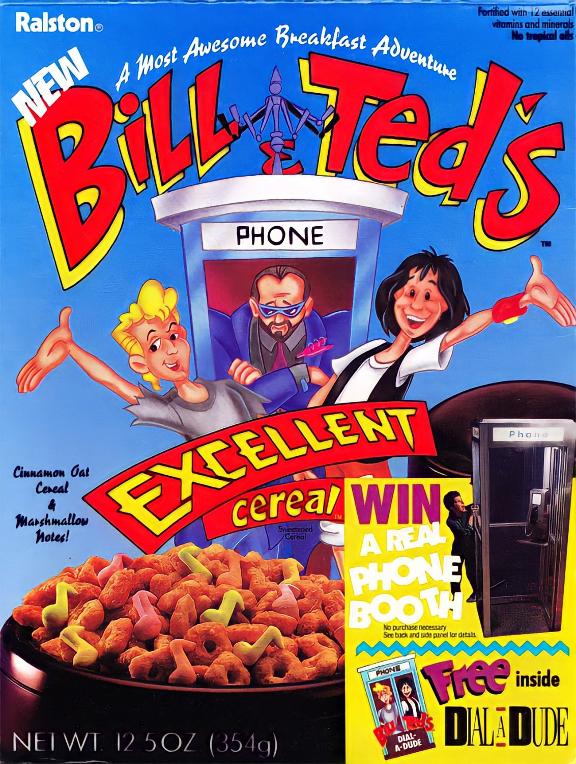 "Bill & Ted's Excellent Cereal STICKER 3"" Glossy, Waterproof (AI Enhanced!)"