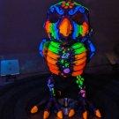 Night Owl Skeleton - Hand-Painted Blacklight UV Reactive Skeleton, neon