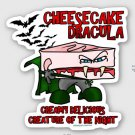 "Cheesecake Dracula STICKER 3"" Waterproof, Glossy, Die Cut"