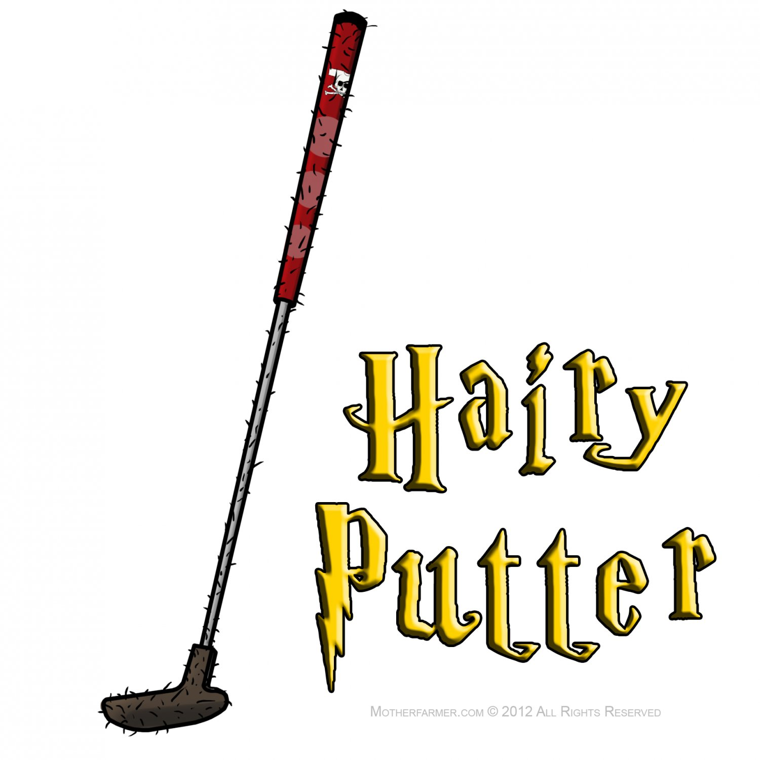 "Hairy Putter STICKER 3"" Waterproof, Glossy, Die Cut Harry Potter Golf"
