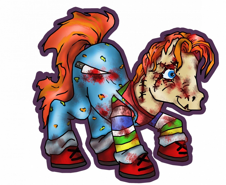 """My Chucky Pony STICKER 3""""  glossy, die cut"""