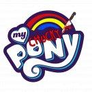 """My Chucky Pony LOGO STICKER 3""""  glossy, die cut"""