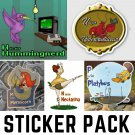 Alphabet Creatures Pack #2 - FIVE Sticker Pack