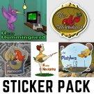 Alphabet Creatures Pack #2 - FIVE Sticker Pack