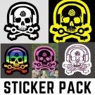 D.J.Skeleton Logo Pack - FIVE Sticker Pack